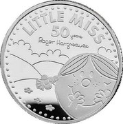 UK 1 Pound 50th Anniversary of Little Miss 2021 LITTLE MISS 50 YEARS ROGER HARGREAVES coin reverse