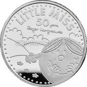 UK 1 Pound (50th Anniversary of Little Miss) LITTLE MISS 50 YEARS ROGER HARGREAVES coin reverse