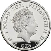 UK 1 Pound 50th Anniversary of Mr. Men 2021 Proof ELIZABETH II D G REG F D 1 POUND 2021 JC coin obverse