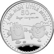 UK 1 Pound 50th Anniversary of Mr. Men Little Miss 2021 MR. MEN LITTLE MISS 50 YEARS ROGER HARGREAVES coin reverse
