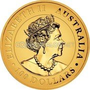 Australia 100 Dollars (Australian Wedge-tailed Eagle. Proof High Relief) ELIZABETH II AUSTRALIA 2021 100 DOLLARS JC coin obverse