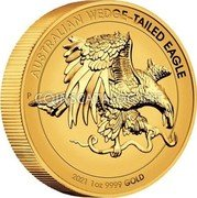Australia 100 Dollars (Australian Wedge-tailed Eagle. Proof High Relief) AUSTRALIAN WEDGE-TAILED EAGLE 2021 1 OZ 9999 GOLD coin reverse