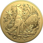 Australia 100 Dollars Australia's Coat of Arms 2021 100 DOLLARS AUSTRALIA coin reverse
