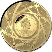 Australia 100 Dollars The Milky Way 2021 ELIZABETH II AUSTRALIA ONE OUNCE .9999 GOLD JC coin obverse