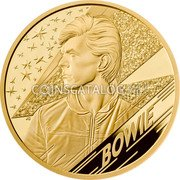 UK 1000 Pounds (David Bowie) BOWIE JC coin reverse
