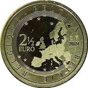 Belgium 2 1/2 Euro 5 Years Belgian Beer Culture Intangible Heritage 2021 BELGIE BELGIQUE BELGIEN 2 1/2 EURO 2021 LL coin obverse