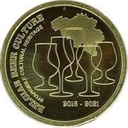 Belgium 2 1/2 Euro 5 Years Belgian Beer Culture Intangible Heritage 2021 BELGIAN BEER CULTURE INTANGIBLE CULTURAL HERITAGE 2016-2021 coin reverse