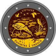 Lithuania 2 Euro Republic LIETUVA 2021 LMK ŽUVINTAS UNESCO coin obverse