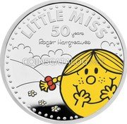 UK 2 Pounds (50th Anniversary of Little Miss) LITTLE MISS 50 YEARS ROGER HARGREAVES coin reverse