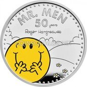 UK 2 Pounds (50th Anniversary of Mr. Men. Colored) MR. MEN 50 YEARS ROGER HARGREAVES coin reverse