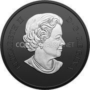 Canada 20 Dollars (Discovering Dinosaurs - Reaper of Death) ELIZABETH II D G REGINA coin obverse