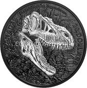 Canada 20 Dollars (Discovering Dinosaurs - Reaper of Death) Thanatotheristes degrootorum CANADA 20 DOLLARS 2021 JC coin reverse