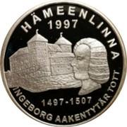 Finland 20 Euro Ingeborg Tott 1997 Proof 1497-1507 1997 HÄMEENLINNA INGEBORG AAKENTYTÄR TOTT coin reverse