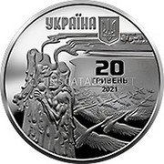 Ukraine 20 Hryven (150th Anniversary of the birth of Lesya Ukrainka) УКРАЇНА 20 ГРИВЕНЬ 2021 coin obverse