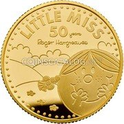 UK 25 Pounds (50th Anniversary of Little Miss) LITTLE MISS 50 YEARS ROGER HARGREAVES coin reverse