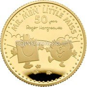 UK 25 Pounds (50th Anniversary of Mr. Men Little Miss) MR. MEN LITTLE MISS 50 YEARS ROGER HARGREAVES coin reverse