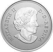 Canada 5 Dollars (100th Anniversary of the Arms of Canada) ELIZABETH II D G REGINA SB coin obverse