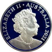 Australia 5 Dollars Centenary of Rotary in Australia 2021 ELIZABETH II AUSTRALIA 2021 JC coin obverse