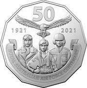 Australia 50 Cents 100 Years RAAF - Century of Air Power 2021 50 1921 2021 ROYAL AUSTRALIAN AIR FORCE CENTENARY coin reverse