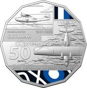Australia 50 Cents (100 Years RAAF - Consolidated Catalina) CONSOLIDATED 1941 - 1952 CATALINA 50 ROYAL AUSTRALIAN AIR FORCE CENTENARY coin reverse