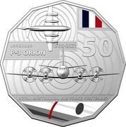 Australia 50 Cents 100 Years RAAF - Lockheed P-3 Orion 2021 LOCKHEED 1969-2021 P-3 ORION 50 ROYAL AUSTRALIAN AIR FORCE CENTENARY coin reverse