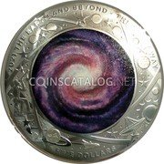 Australia Five Dollars (The Milky Way) 2021 THE EARTH AND BEYOND - THE MILKY WAY FIVE DOLLARS coin reverse