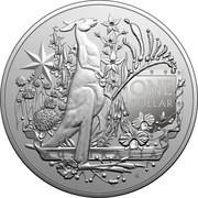 Australia One Dollar Australia's Coat of Arms 2021 ONE DOLLAR 1 OUNCE .999 AG coin reverse
