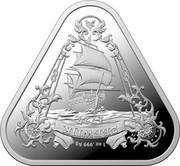Australia One Dollar The Wrecking of the Zeewijk in 1727 2021 1 OZ .999 AG ZEEWIJK coin reverse