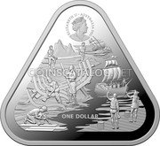 Australia One Dollar (The Wrecking of the Zeewijk in 1727) ELIZABETH II AUSTRALIA 2021 ONE DOLLAR coin obverse