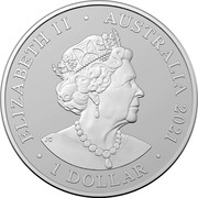 Australia 1 Dollar Star Dreaming - Beizam - The Shark in the Stars 2021 ELIZABETH II AUSTRALIA 2021 1 DOLLAR coin obverse