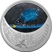 Australia 1 Dollar (Star Dreaming - Beizam - The Shark in the Stars) THE SHARK IN THE STARS 1/2 OZ 999 AG coin reverse