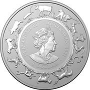 Australia 5 Dollars Year of the Ox. Frosted finish 2021 ELIZABETH II AUSTRALIA 2021 1 DOLLAR coin obverse