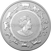 Australia 5 Dollars (Year of the Ox. Frosted finish) ELIZABETH II AUSTRALIA 2021 1 DOLLAR coin obverse