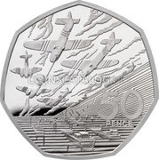 UK 50 Pence (D-Day Anniversary) 50 PENCE JM coin reverse