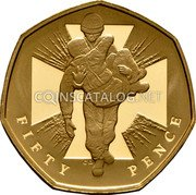 UK Fifty Pence (Victoria Cross Soldier. Piedfort) FIFTY PENCE CD coin reverse