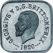 Australia Half Penny George V Kookaburra Pattern - Type 1 1920 Pattern KM# Pn13a GEORGIVS V D G BRITT OMN REX 1920 coin obverse