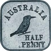 Australia Half Penny George V Kookaburra Pattern - Type 1 1920 Pattern KM# Pn13a AUSTRALIA HALF PENNY coin reverse