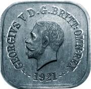 Australia One Penny George V Kookaburra Pattern - Type 12a 1921 Pattern KM# Pn20c GEORGE V D G BRITT OMN REX 1921 coin obverse