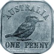 Australia One Penny George V Kookaburra Pattern - Type 12a 1921 Pattern KM# Pn20c AUSTRALIA ONE PENNY coin reverse