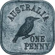 Australia One Penny George V Kookaburra Pattern - Type 4a 1919 Pattern KM# Pn9a AUSTRALIA ONE PENNY coin reverse