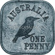 Australia One Penny (George V Kookaburra Pattern - Type 4a) KM# Pn9a AUSTRALIA ONE PENNY coin reverse