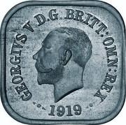 Australia One Penny George V Kookaburra Pattern - Type 6a 1919 Pattern KM# Pn11a GEORGE V D G BRITT OMN REX 1919 coin obverse