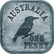 Australia One Penny (George V Kookaburra Pattern - Type 6a) KM# Pn11a AUSTRALIA ONE PENNY coin reverse