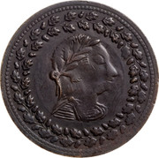 Canada 1/2 Penny Imitation Tiffin 1812 - coin obverse