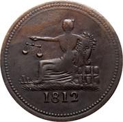 Canada 1/2 Penny Imitation Tiffin 1812 1812 coin reverse