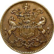 Canada 1/2 Penny Rutherford St Johns ND (1841)  Without date PER MARE PER TERRA RH 1841 coin obverse