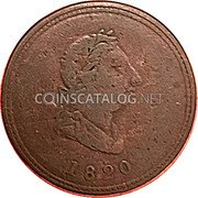 Canada 1/2 Penny Seated Justice Token 1820 1820 coin obverse