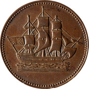 Canada 1/2 Penny Ships - Colonies & Commerce 1830-1835 - coin obverse