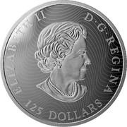 Canada 125 Dollars The Whooping Crane - Conservation Series 2015 ELIZABETH II D ∙ G ∙ REGINA 125 DOLLARS SB coin obverse