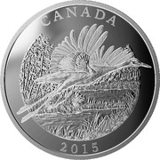 Canada 125 Dollars The Whooping Crane - Conservation Series 2015 CANADA 2015 LN coin reverse